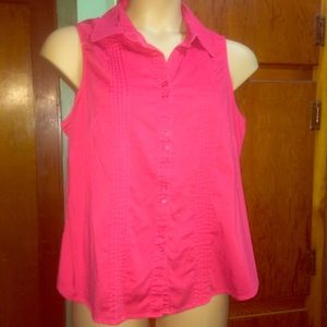 Double Buttoned Collared Tank